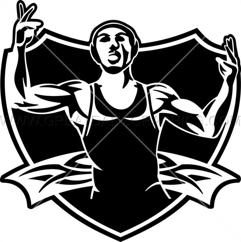 Wrestling graphics group crest. Wrestlers clipart greco roman