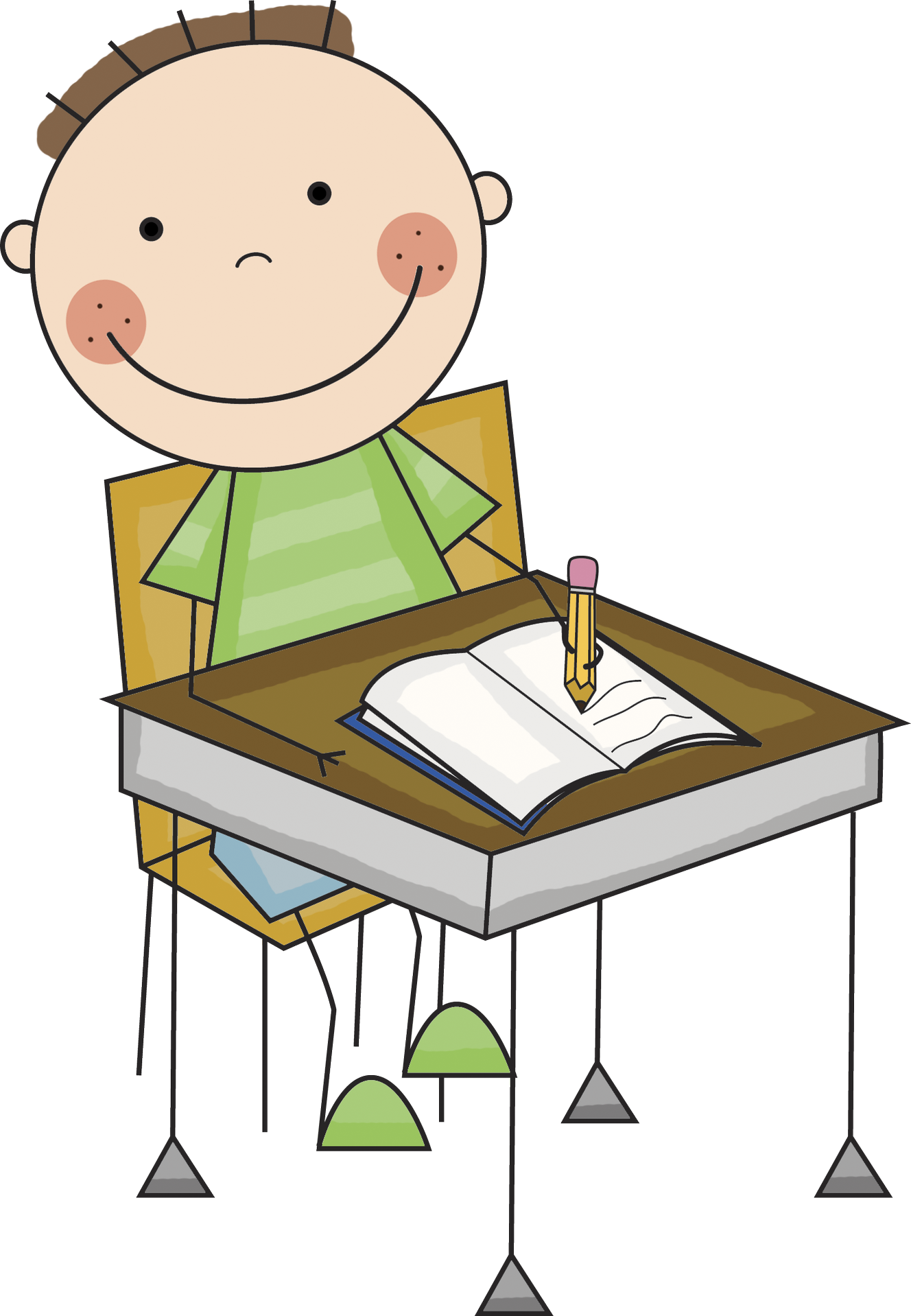 Clipart writing clip art. Boy and girl letters