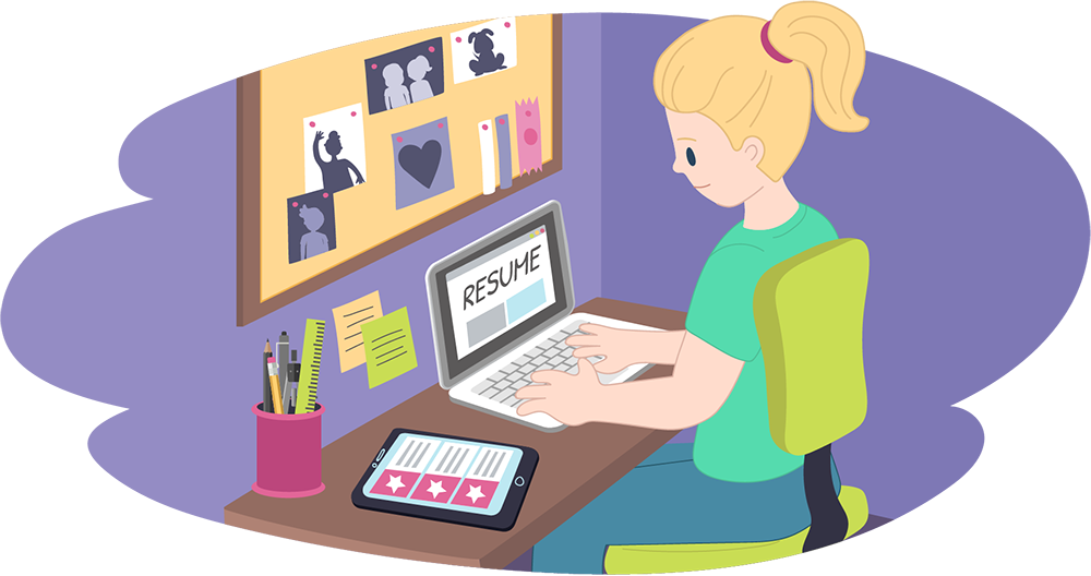 Worry clipart writing. Resume