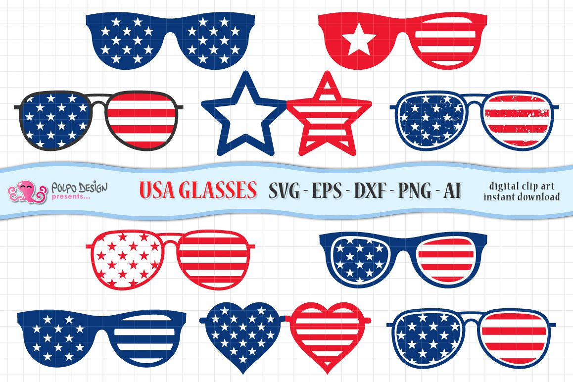 Clipart sunglasses fourth july.  th of glasses