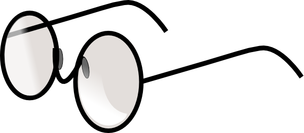 Clip art free panda. Eyeglasses clipart round