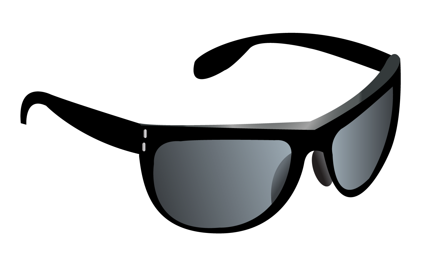 Clipart sunglasses black and white. Ray ban clubmaster