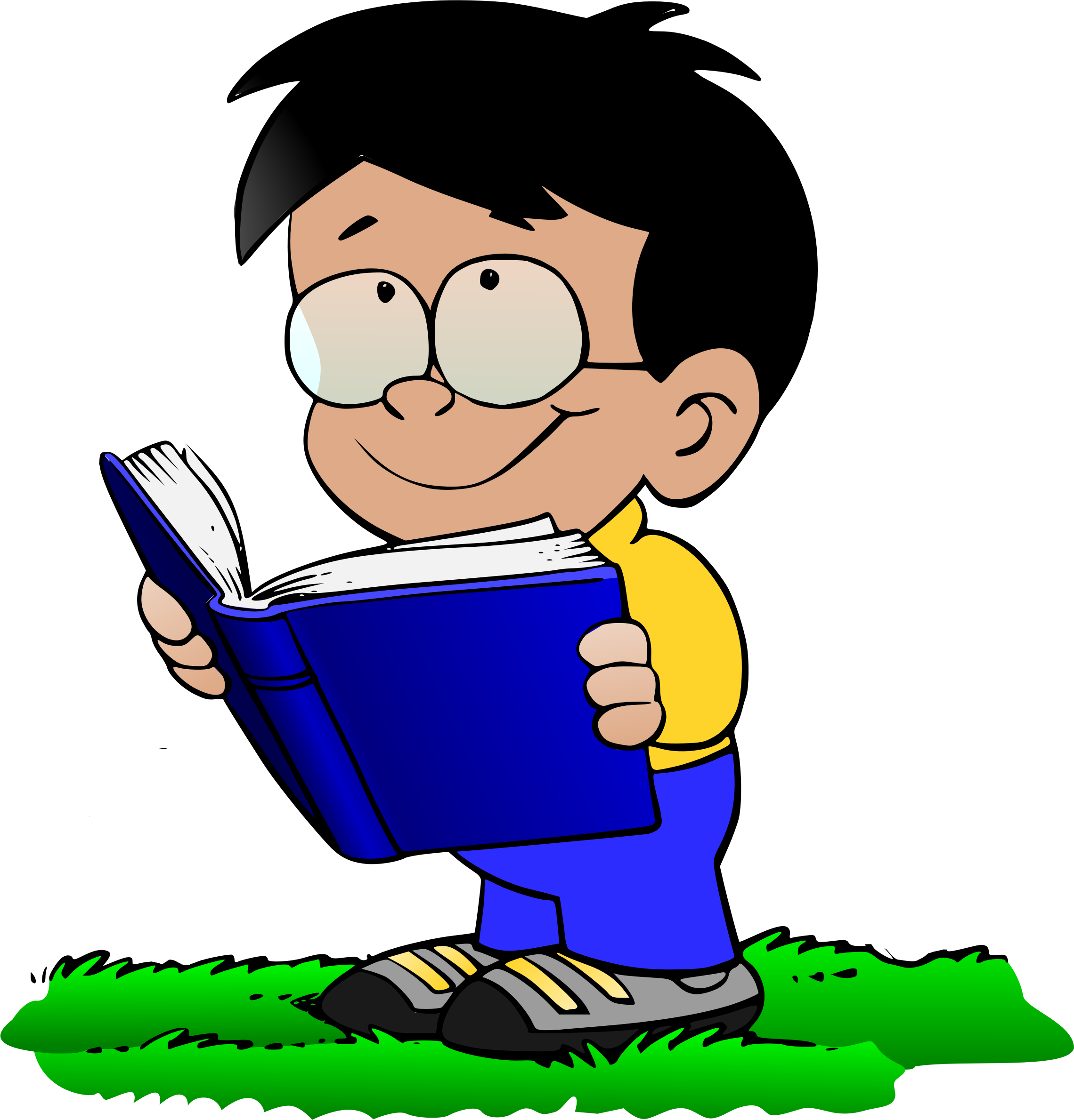 Person clipart kid. Boy with book v