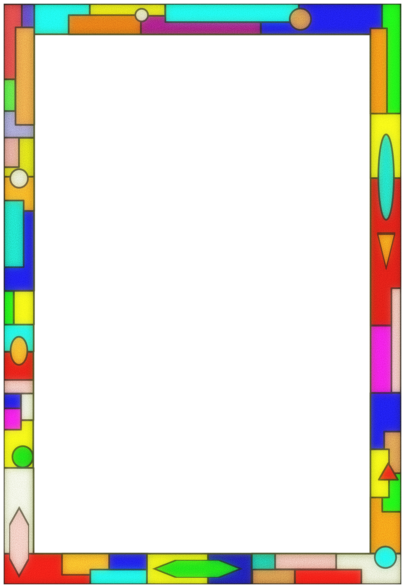 Stained glass border by. Ladder clipart frame colorful