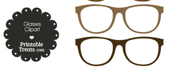 Glasses in shades of. Sunglasses clipart brown