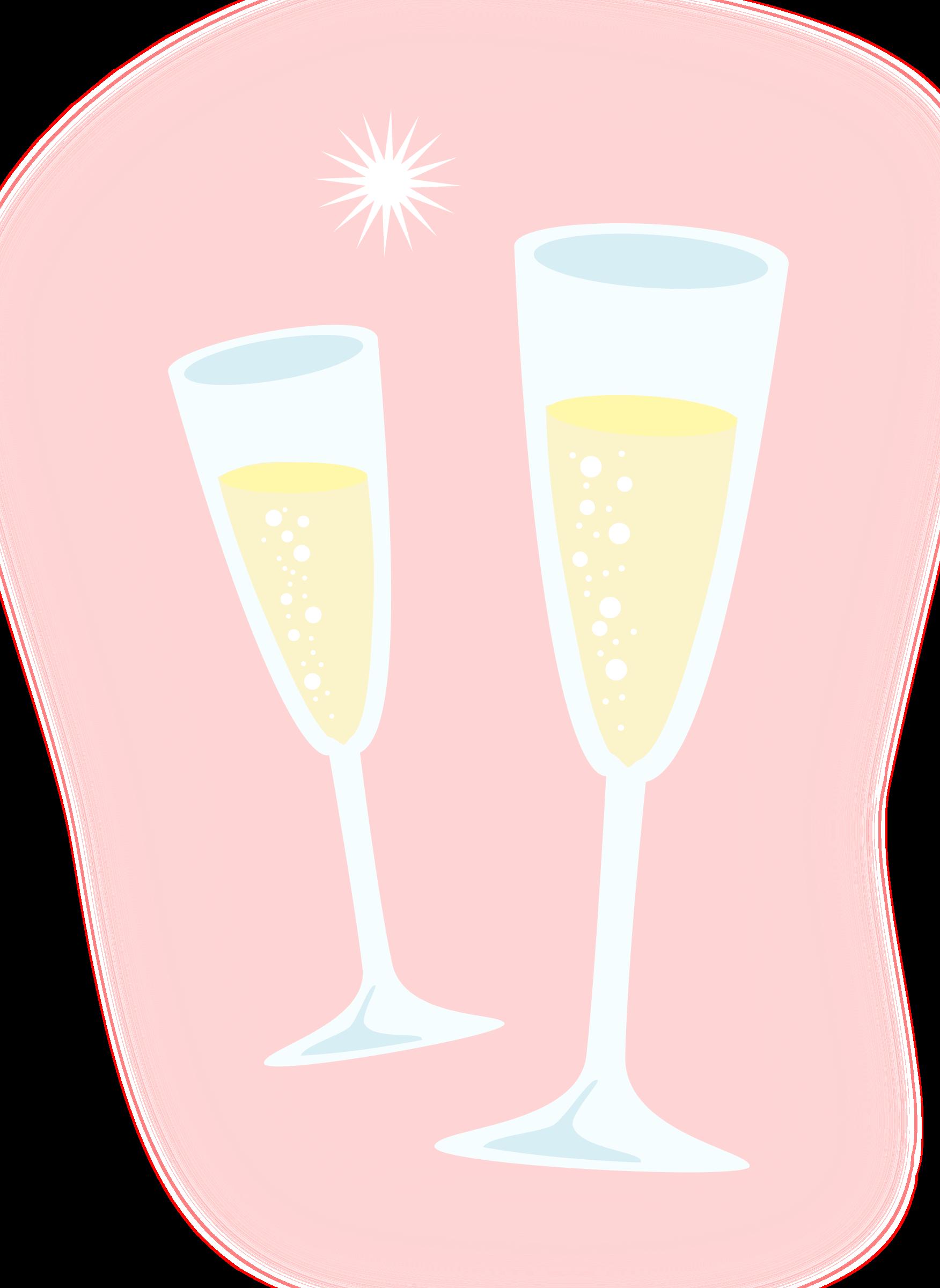 Champagne. Flutes clipart champaigne