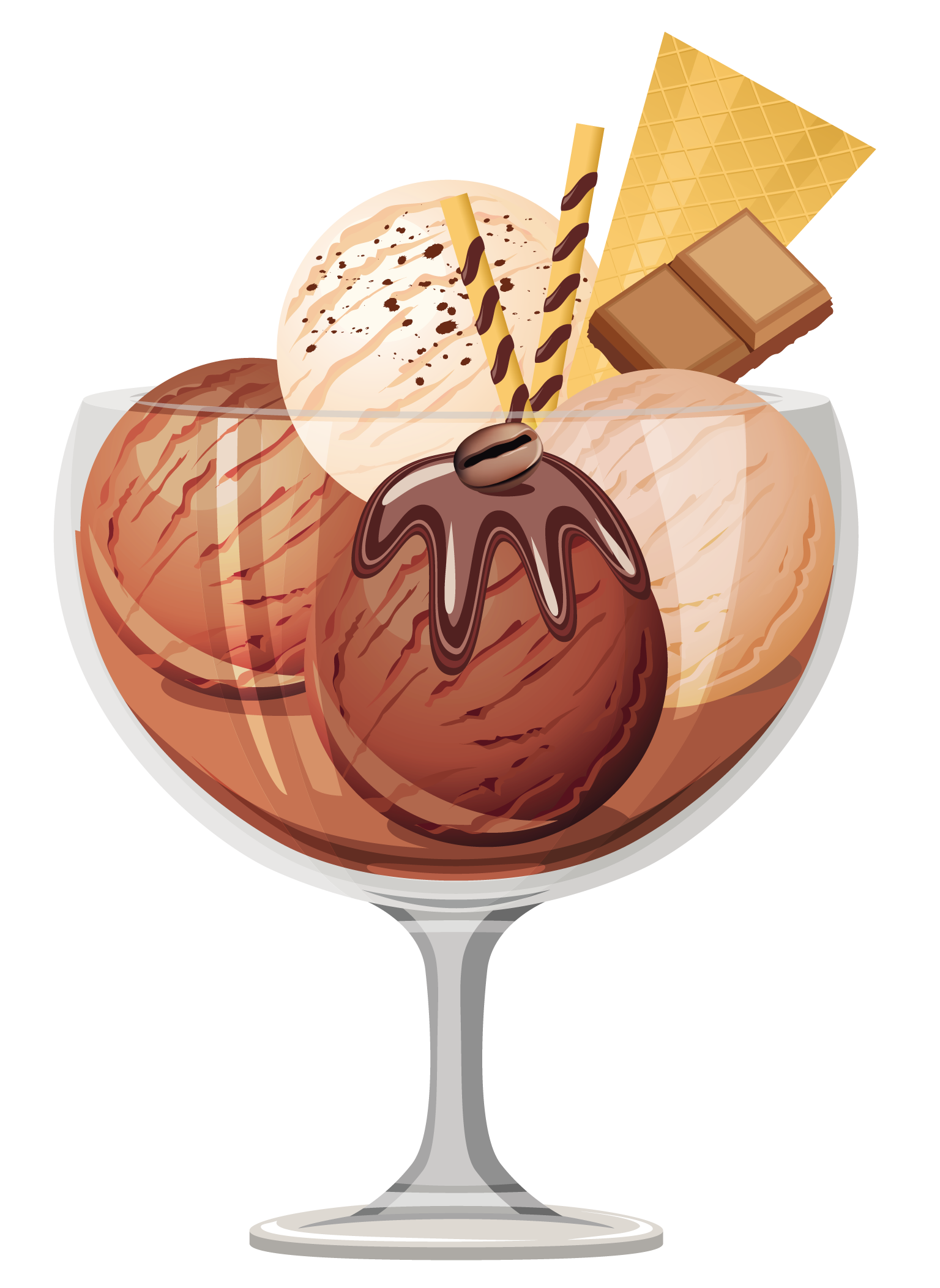 Transparent chocolate ice cream. Strawberries clipart strawberry sundae
