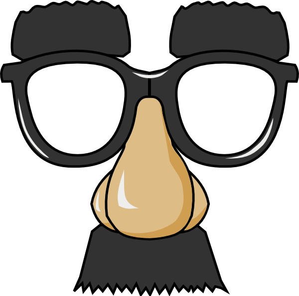 glasses clipart clown