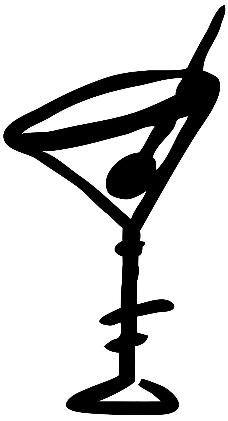 Martini glass cocktail image. Cocktails clipart outline