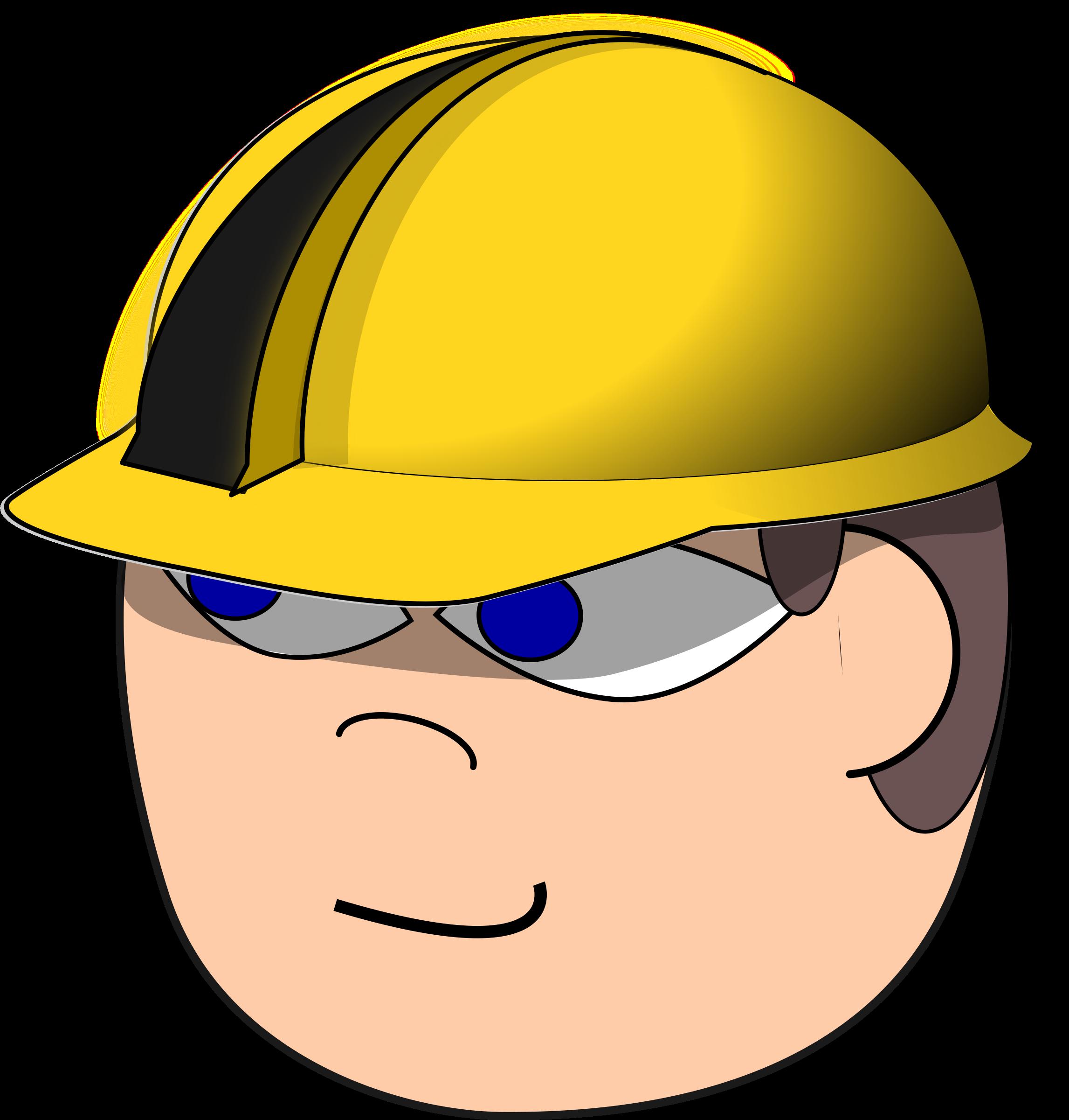 Helmet clipart construction worker. Big image png