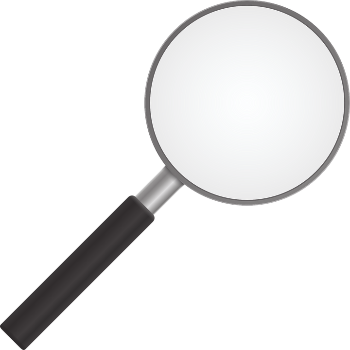 clipart reading magnifying glass