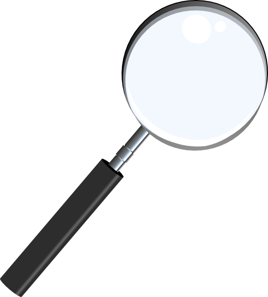 Magnifying glass panda free. Detective clipart magnifier