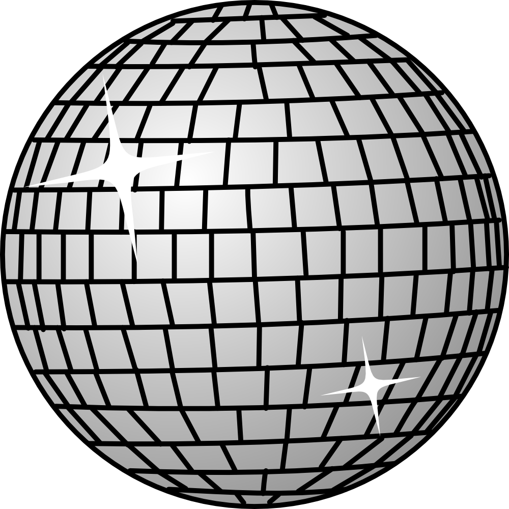 Ball clip art balls. Glass clipart disco