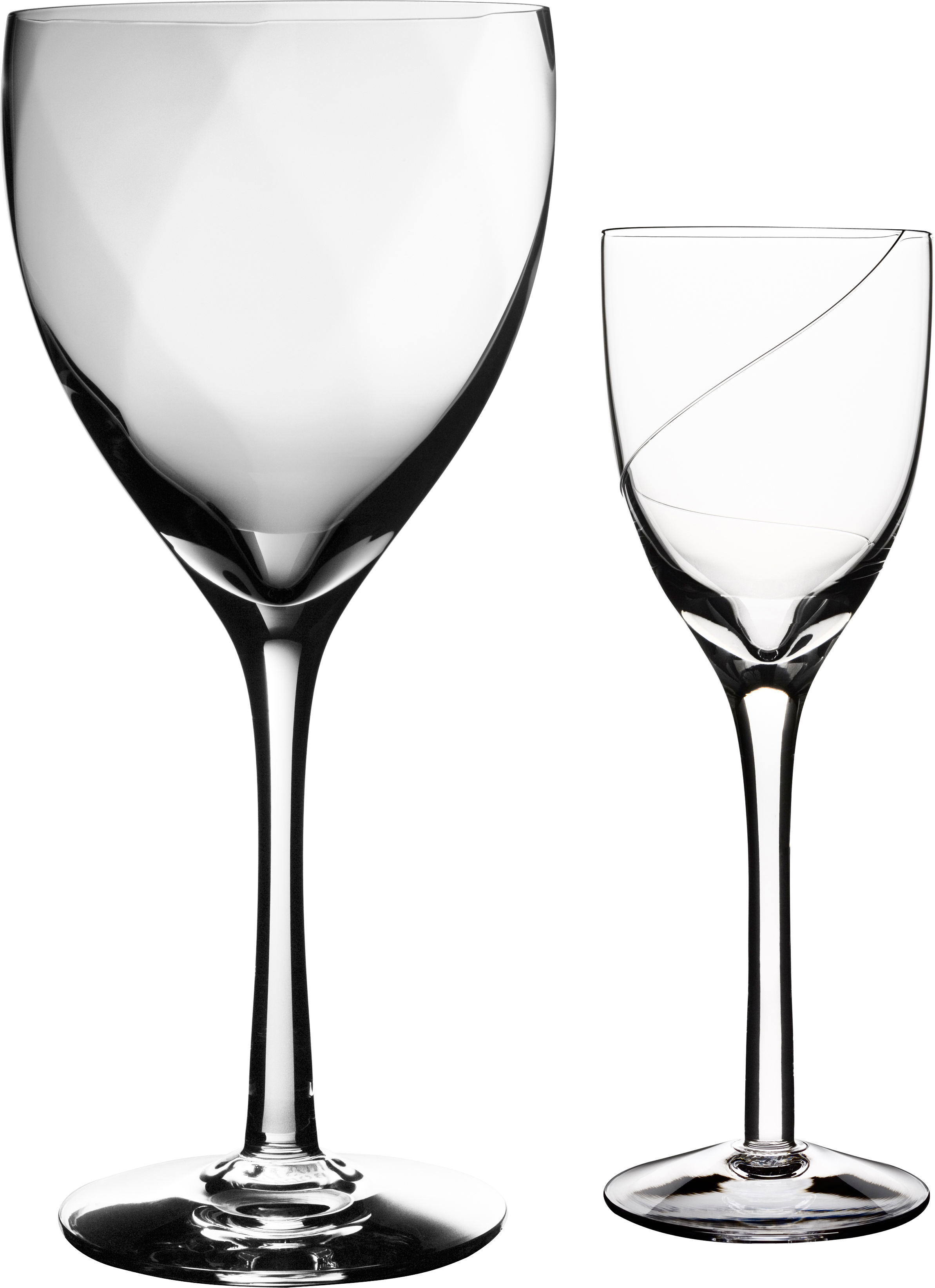 Empty wine glass four. Clipart kitchen crockery