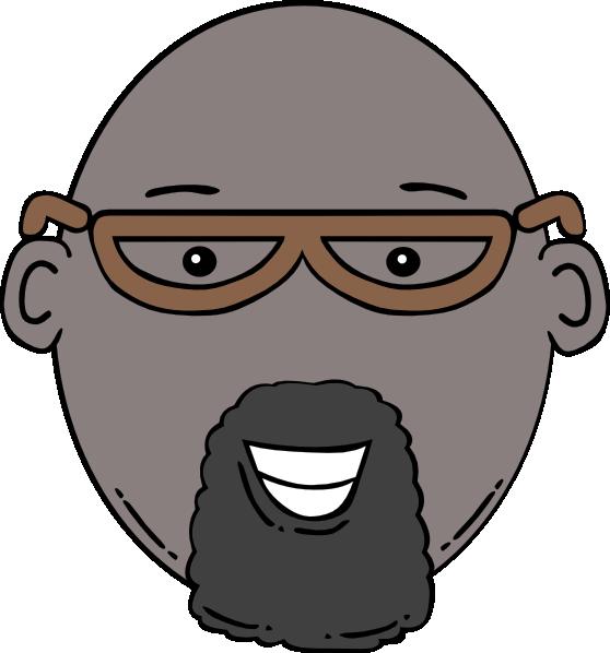 Cartoon man with glasses. Eyeglasses clipart stylish glass
