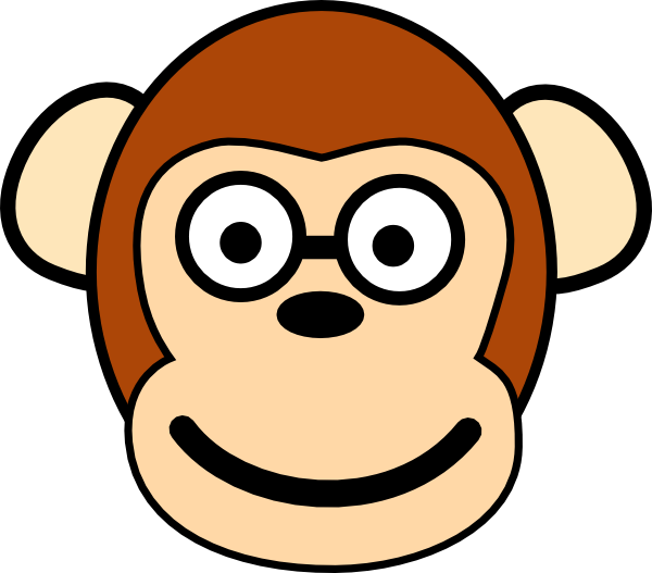 Monkey with clip art. Funny clipart glasses