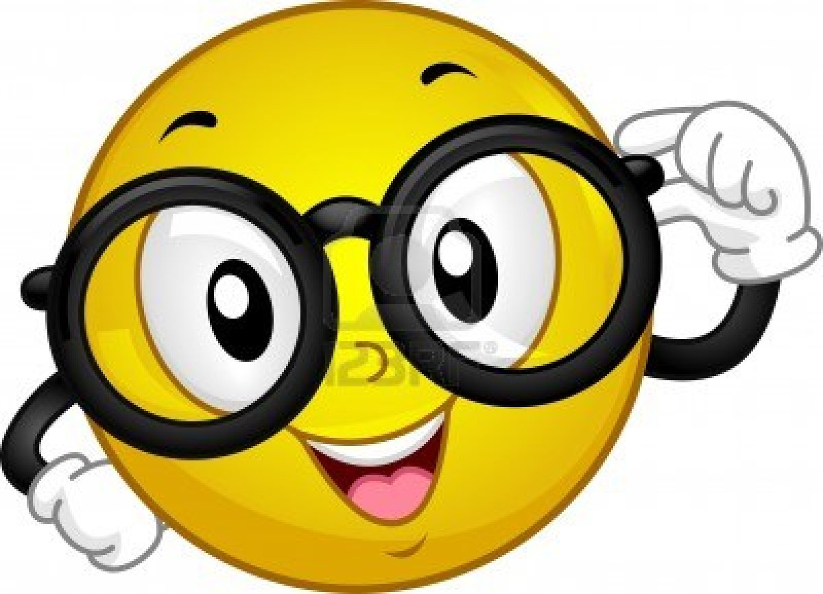 Smiley with free image. Glasses clipart face