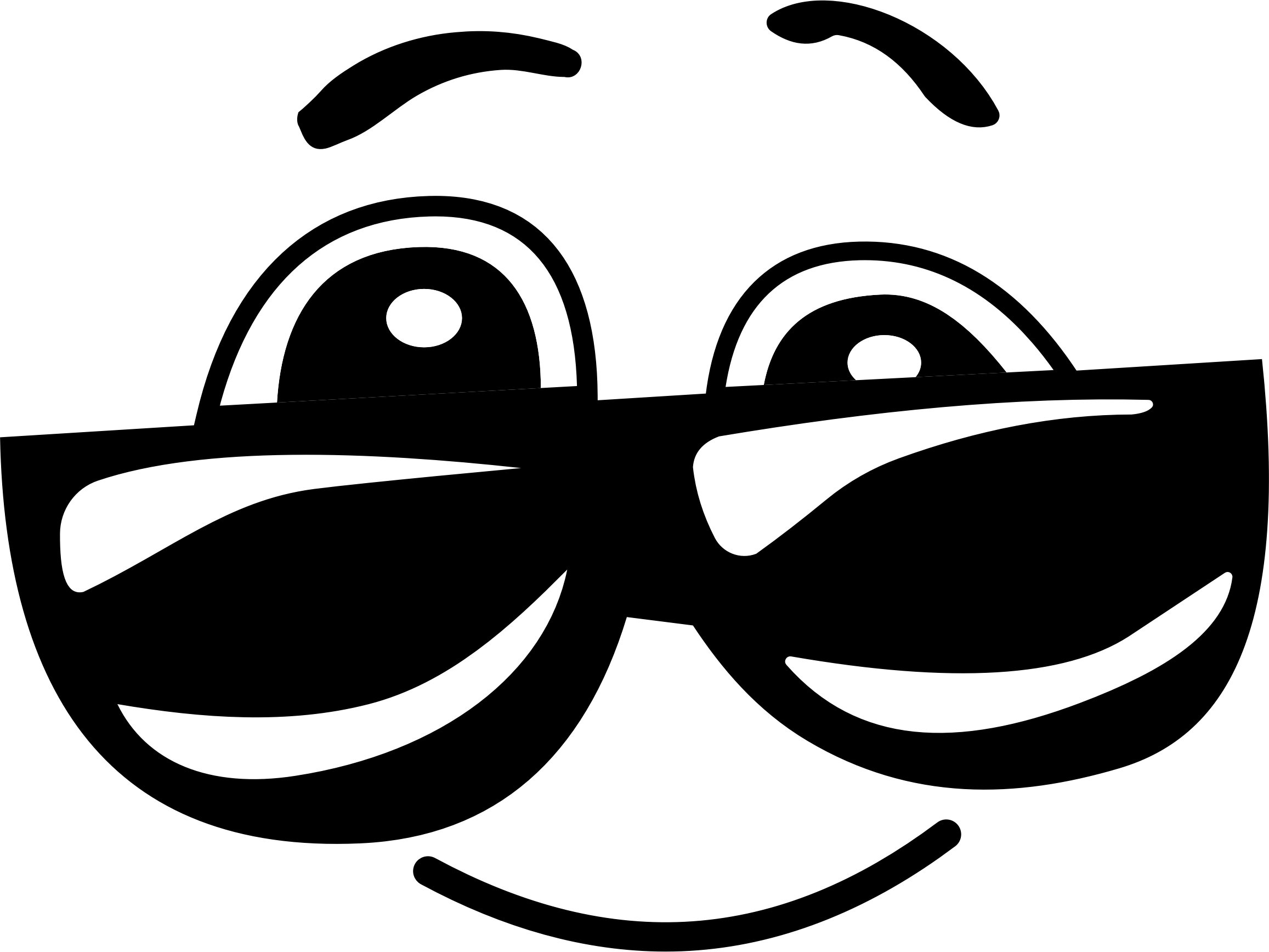 Smiley face big image. Clipart sunglasses black and white