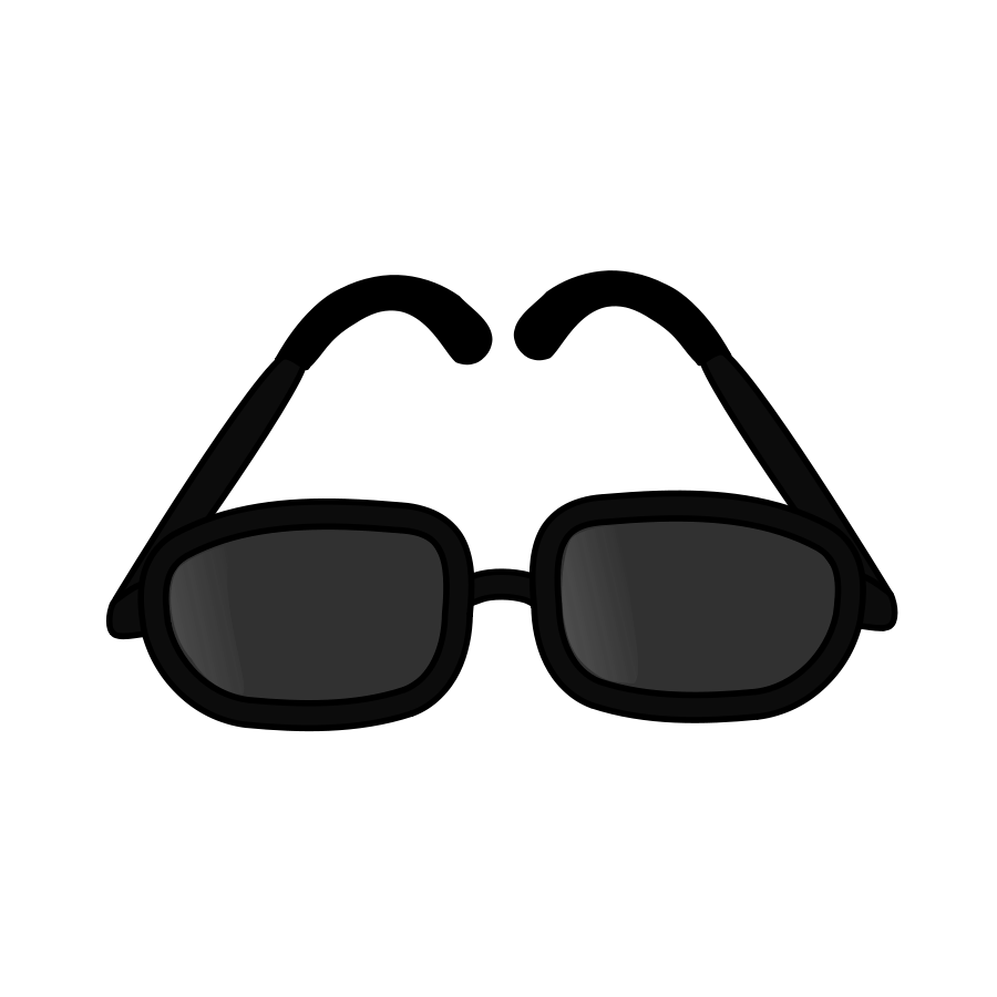 Black . Sunglasses clipart neon