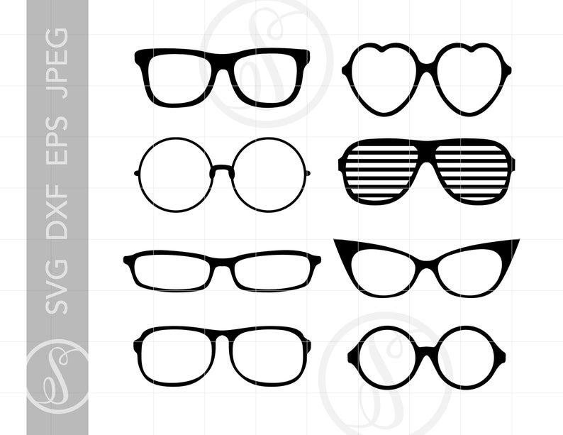 Sunglasses svg cut downloads. Glasses clipart file