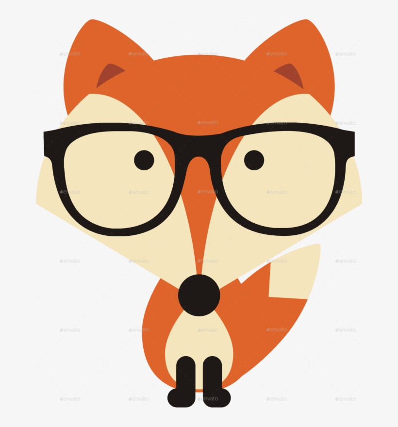 Clipart glasses fox. Cartoon with x png