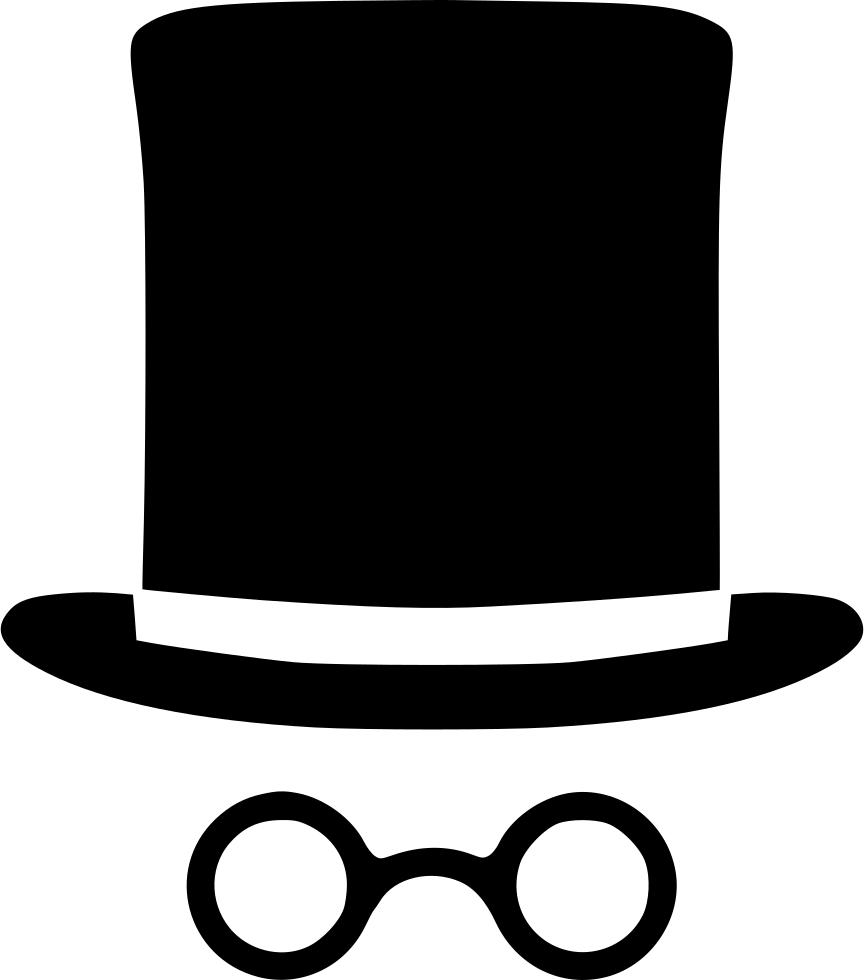 Cylinder fashion svg png. Clipart glasses gentleman