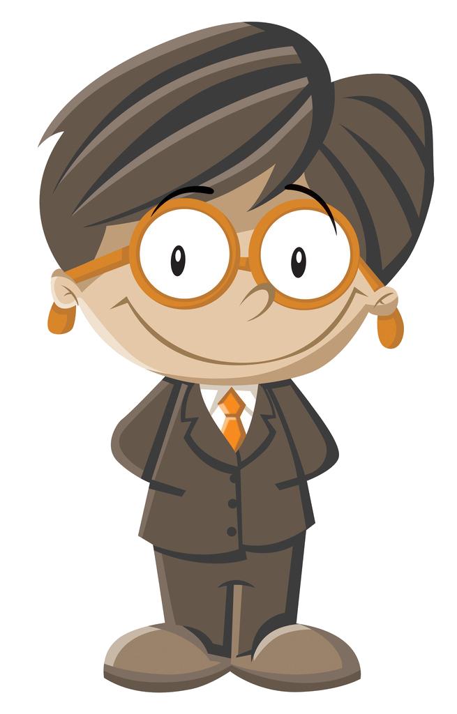 Cartoon designer animation boy. Clipart glasses gentleman