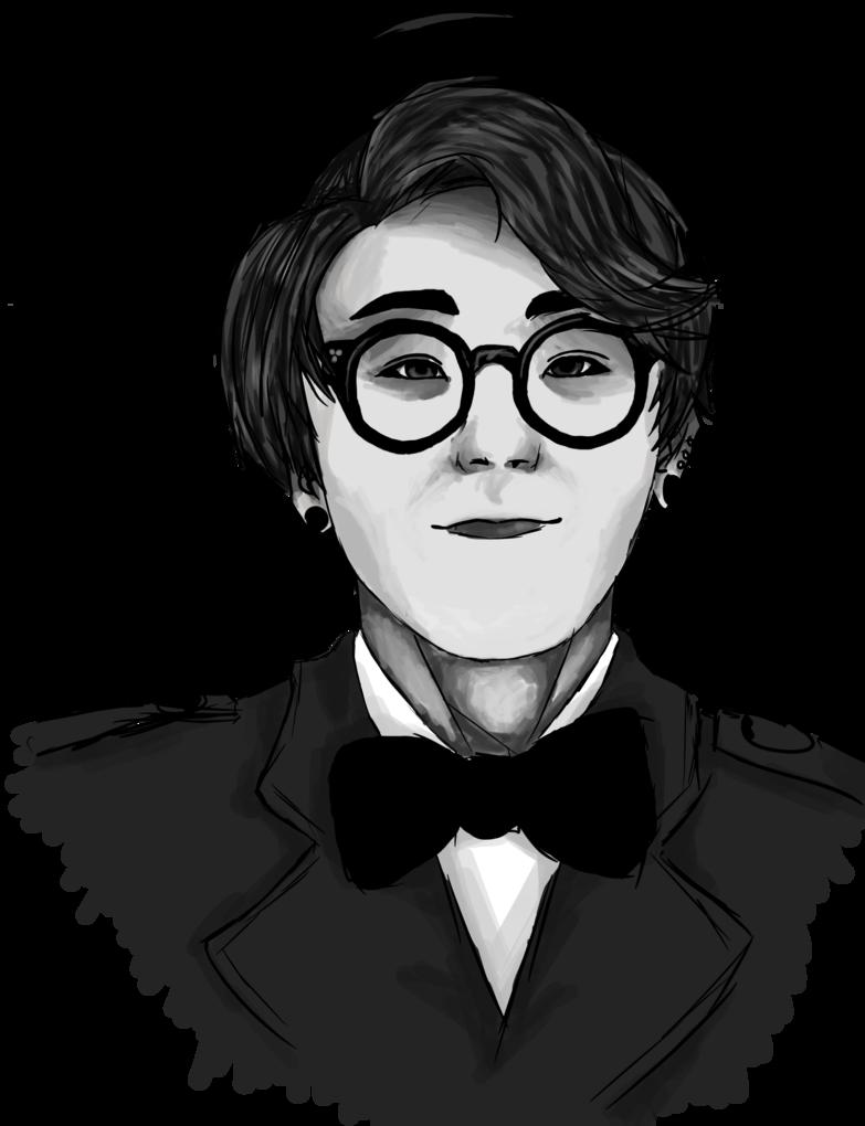 Clipart glasses gentleman. Block b taeil by