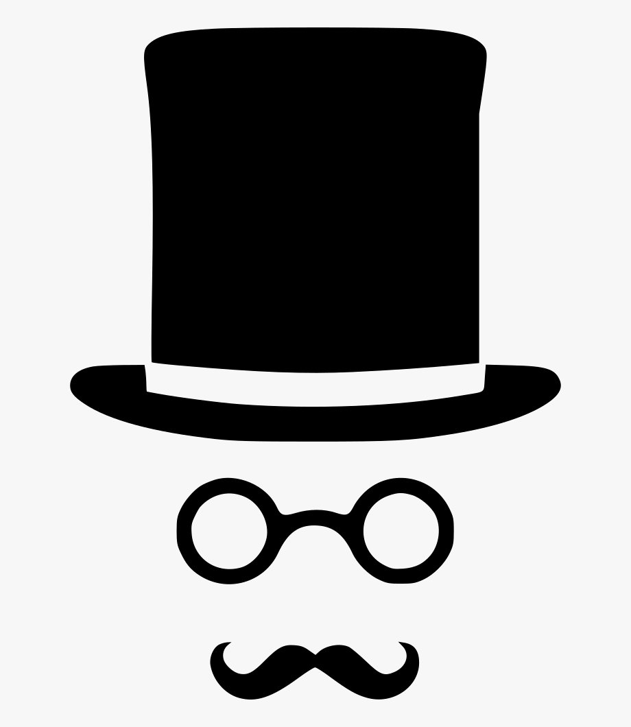 Glasses and mustache png. Moustache clipart gentleman hat
