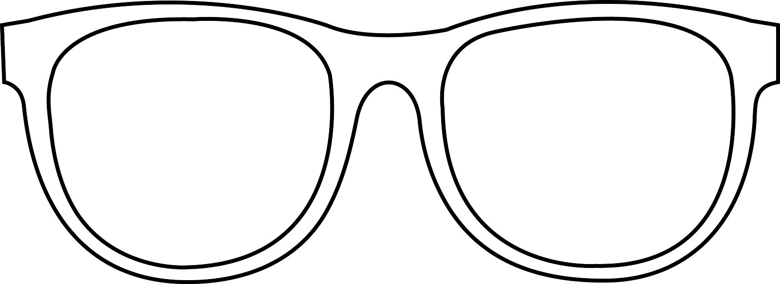 Sunglasses clipart printable. Outline clip art classroom
