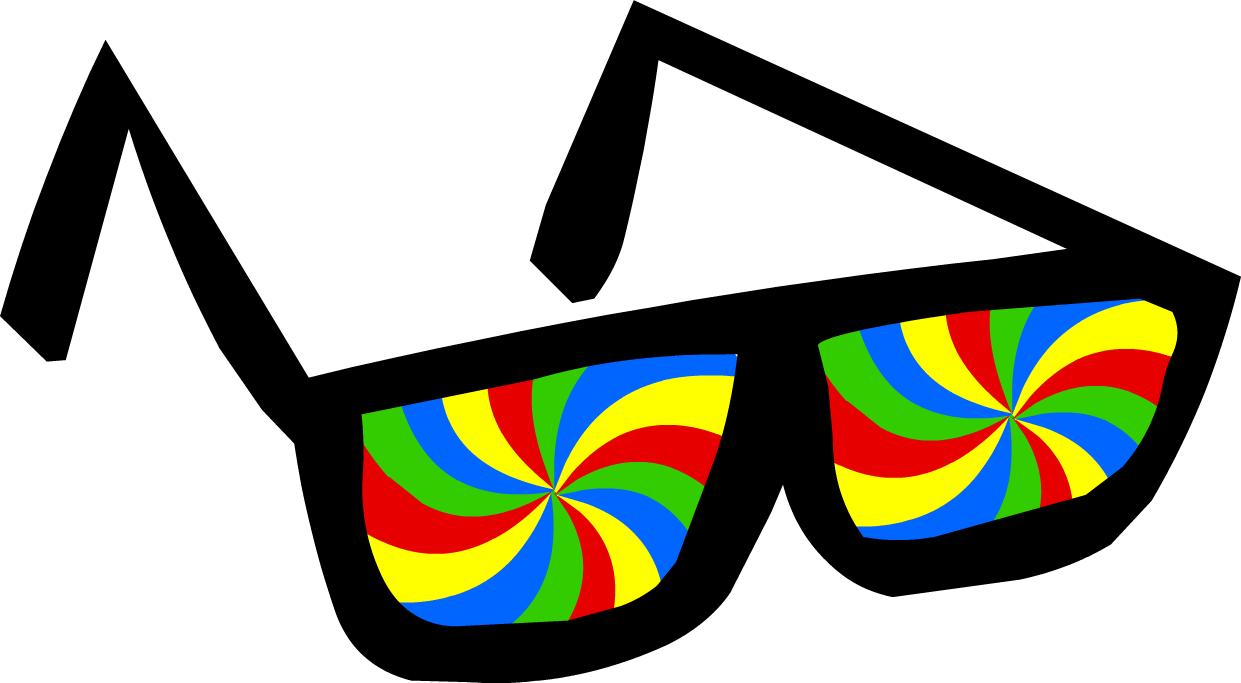 Swirly glasses club penguin. Sunglasses clipart fun glass