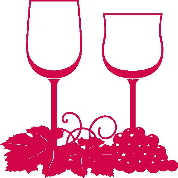 Leaf clipart wine. Glasses pink clip art