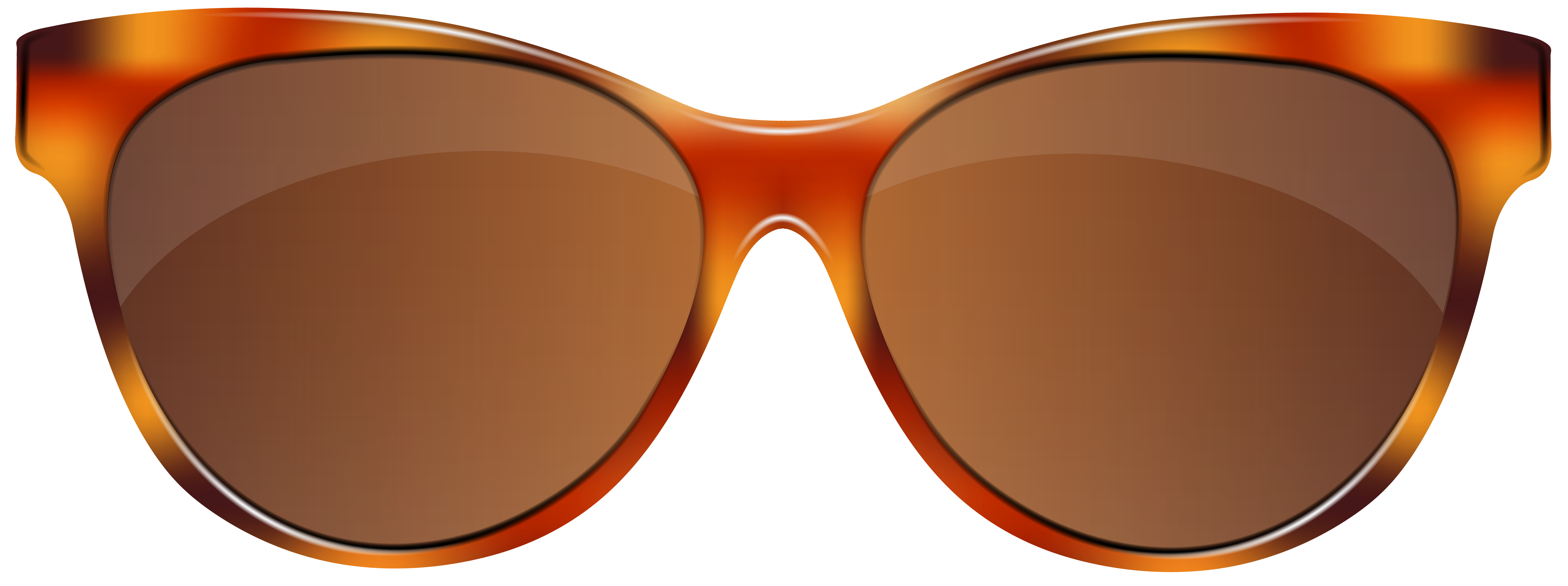 Sunglasses clipart brown. Png clip art image