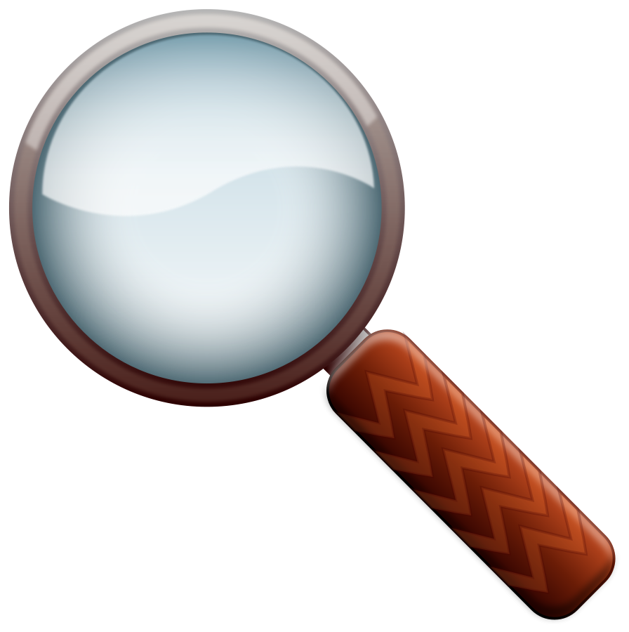 Mystery clipart magnifier. Magnifying glass with fingerprint