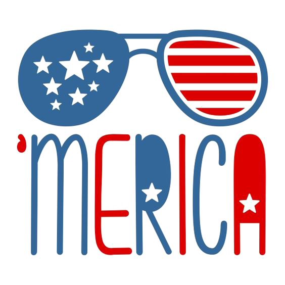 United states clipart blue. Aviator sunglasses clip art