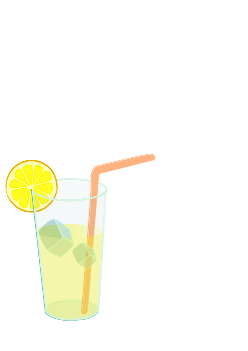glasses clipart lemonade