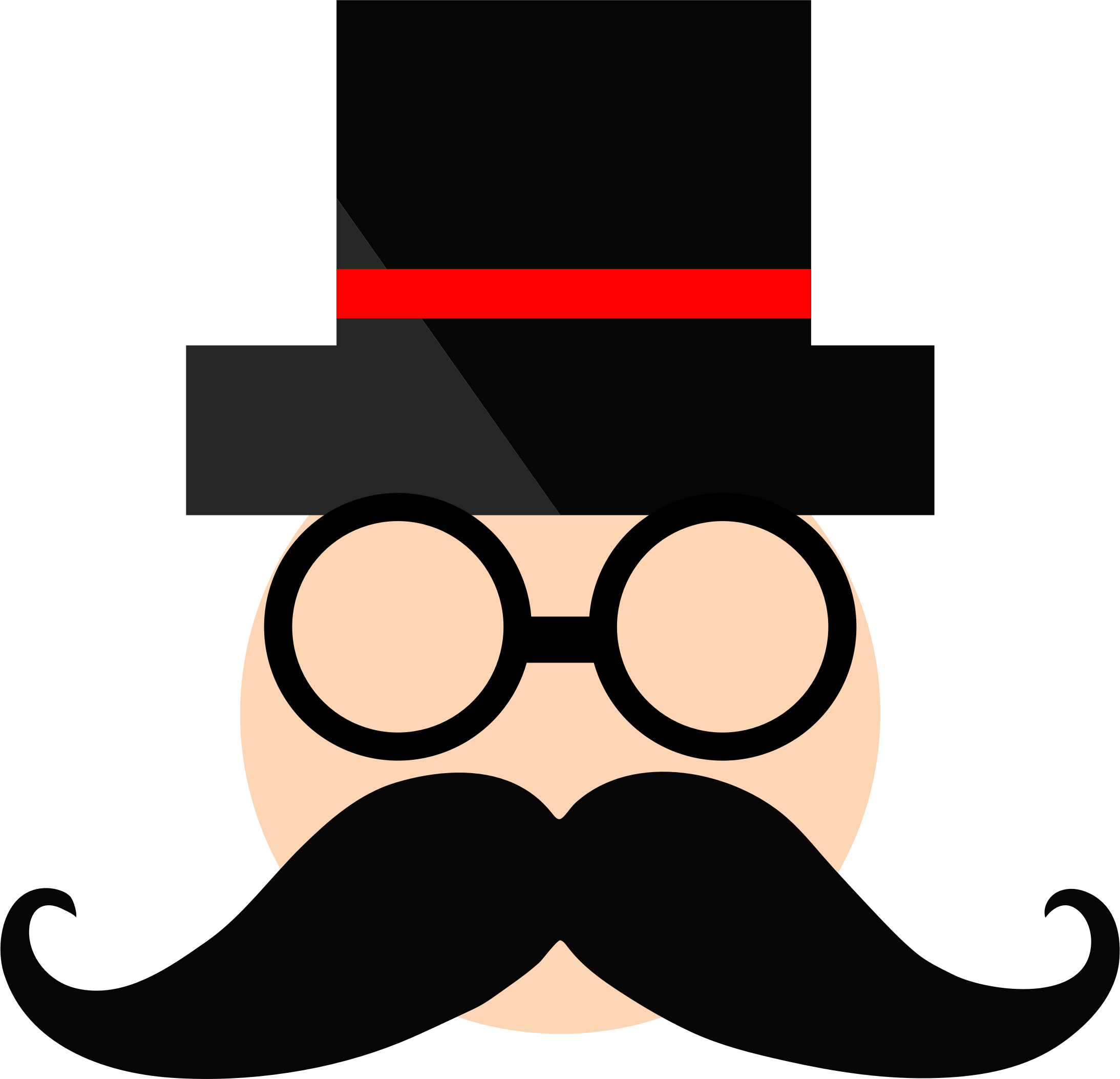 Moustache clipart chasma. Man in top hat