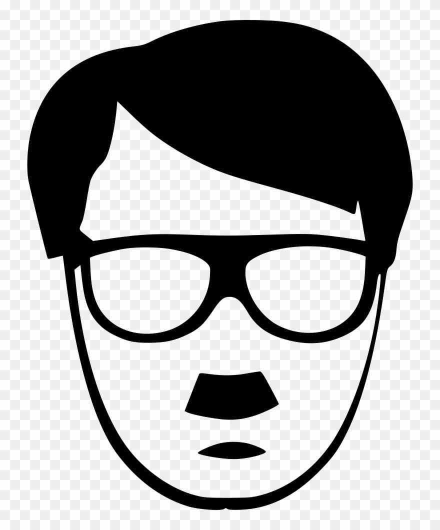 Hitler hipster style fasion. Clipart glasses man