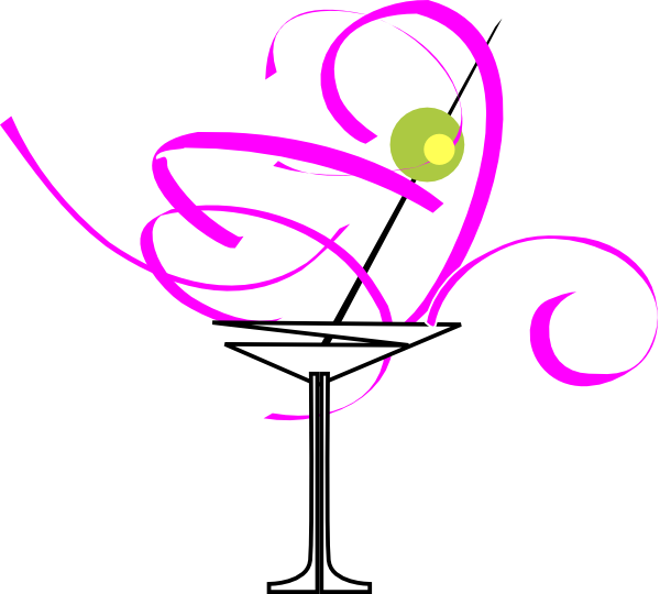 Martini clip art at. Drinking clipart cocktail glass