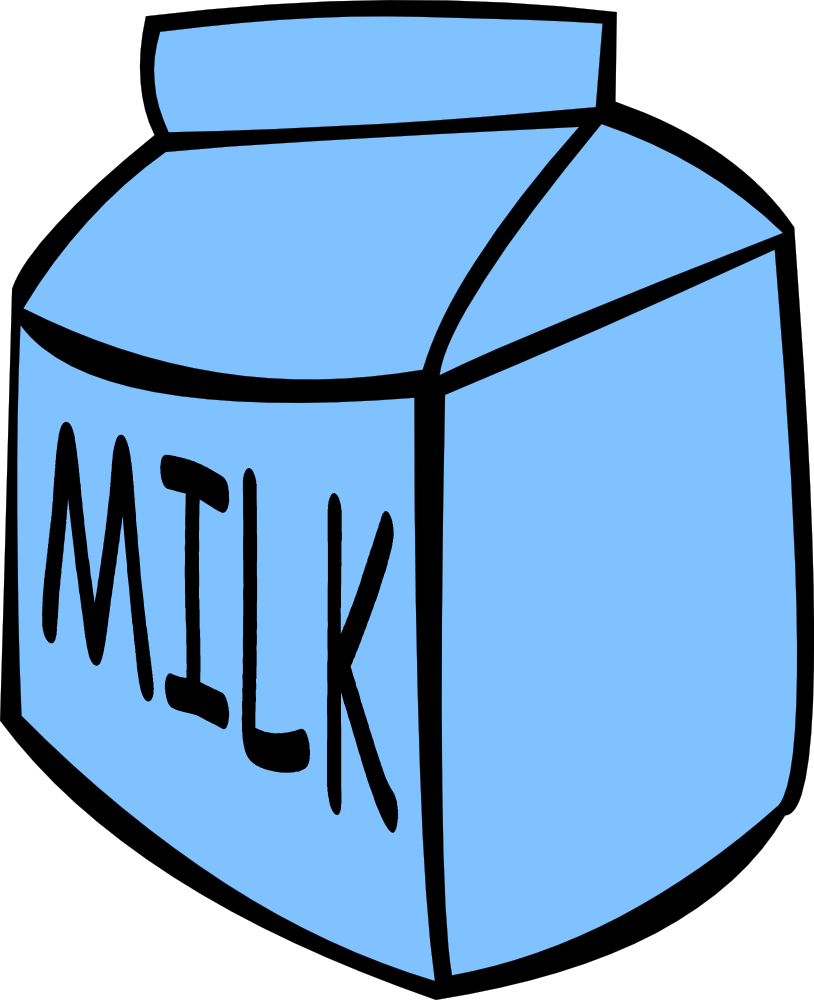 Square clipart small. Carton of milk panda