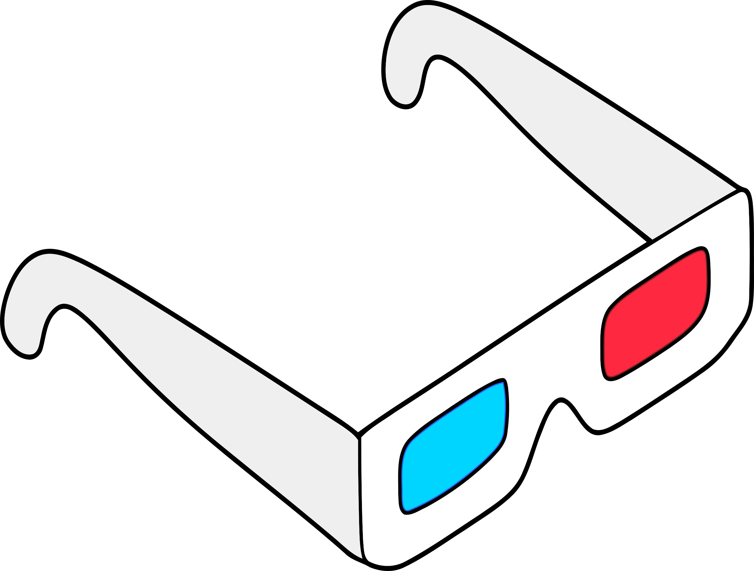 Glasses clipart movie. Anaglyph big image png