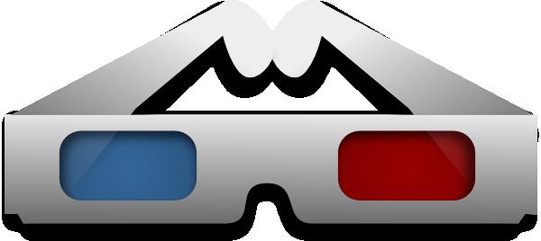 Glasses clipart movie.  d clip art