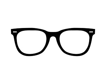 Eyeglasses clipart close. Nerd glasses etsy
