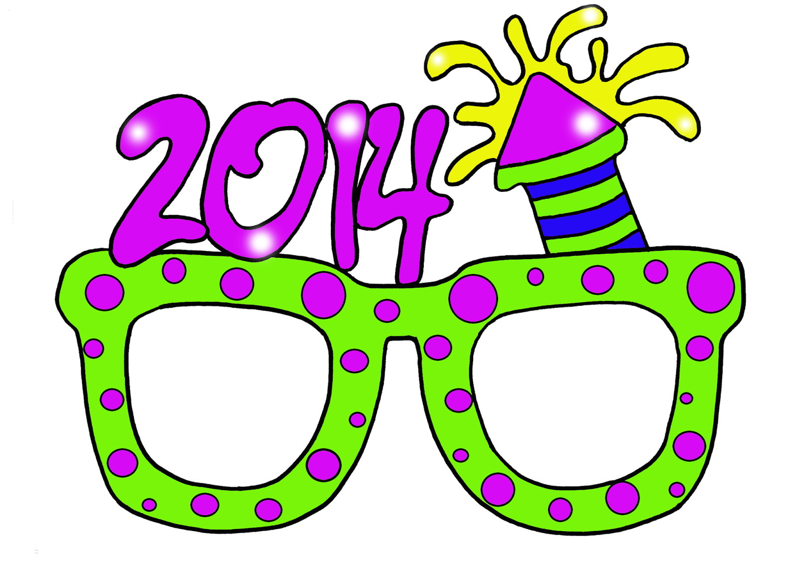 Granny goes to school. Clipart glasses new year