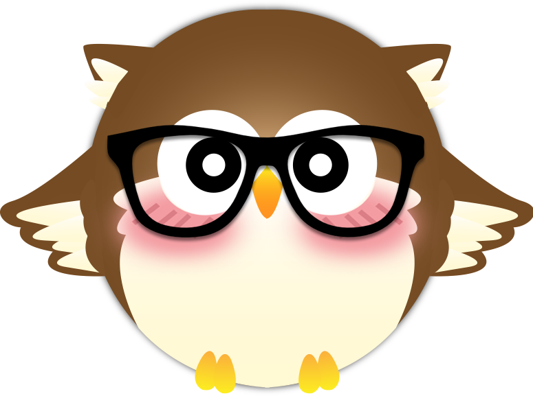 Vector new by haine. Clipart glasses owl
