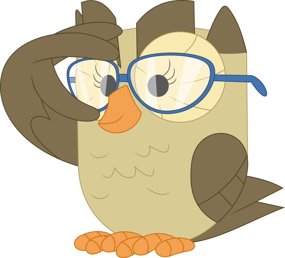 Owls clipart row.  artist porygon z