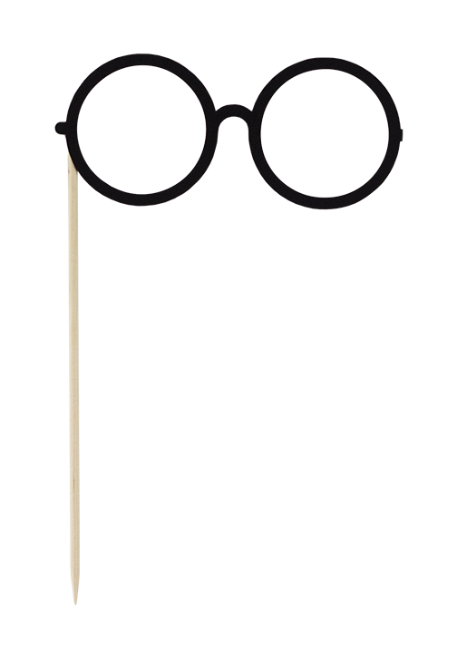 Prop secret diary. Clipart glasses photo booth