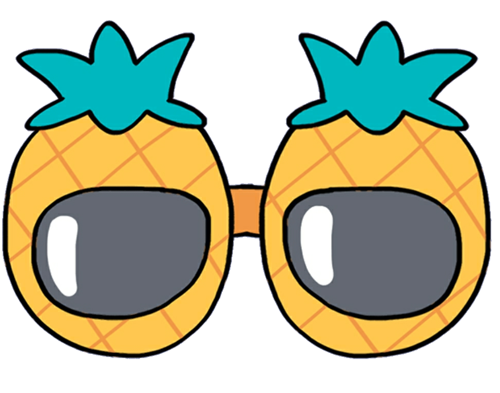 Clipart pineapple sunglasses. Glasses mochi kawaii cute