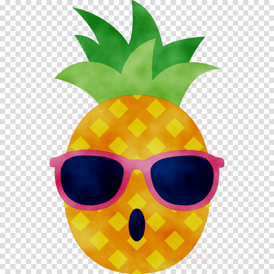 Cartoon glasses . Clipart pineapple sunglasses