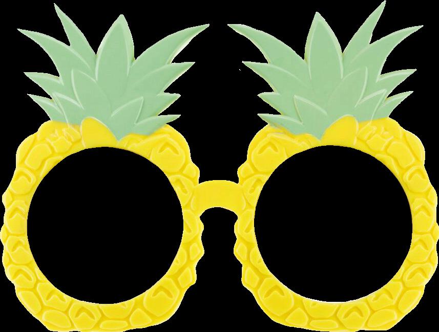 Summertime pineapples glasses sticker. Pineapple clipart sunglasses